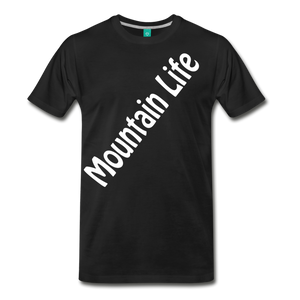 Men's Diagonal Mountain Life T-Shirt - black