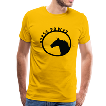 Load image into Gallery viewer, Men's Horse Power T-Shirt - sun yellow