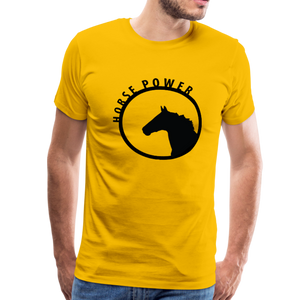 Men's Horse Power T-Shirt - sun yellow