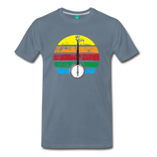 Load image into Gallery viewer, Men's Banjo Rainbow T-Shirt - steel blue