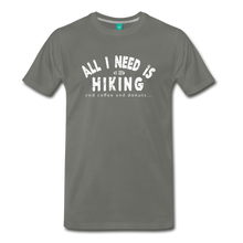 Load image into Gallery viewer, Men's All I Need is Hiking T-Shirt - asphalt