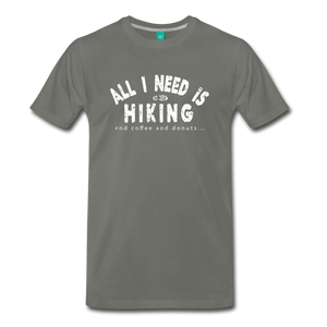 Men's All I Need is Hiking T-Shirt - asphalt