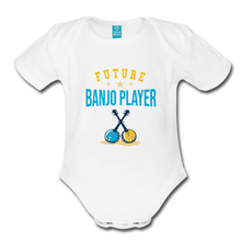 Load image into Gallery viewer, Future Banjo Player Baby Bodysuit - white