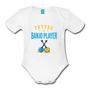 Future Banjo Player Baby Bodysuit - white