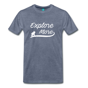 Men's Explore More T-Shirt - heather blue