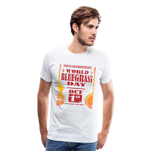 Men's Faded World Bluegrass Day T-Shirt - white