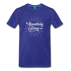 Men's Mountain Calling T-Shirt (white) - royal blue