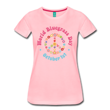 Load image into Gallery viewer, Women's Flower Retro World Bluegrass Day T-Shirt - pink