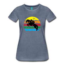 Load image into Gallery viewer, Women's Jumping Sun T-Shirt - heather blue