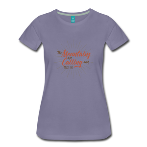Women's Mountain Calling T-Shirt - washed violet