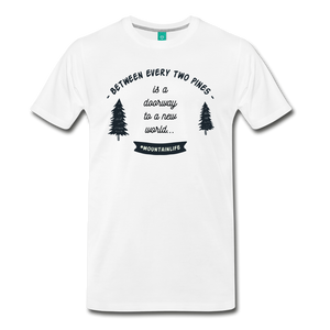 Men's Between Every Two Pines T-Shirt - white