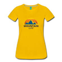 Load image into Gallery viewer, Women's Mountain Life Shirt - sun yellow