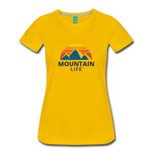 Women's Mountain Life Shirt - sun yellow