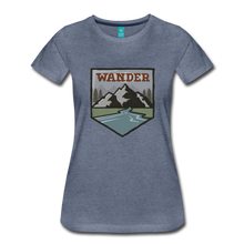 Load image into Gallery viewer, Women's Wander T-Shirt - heather blue