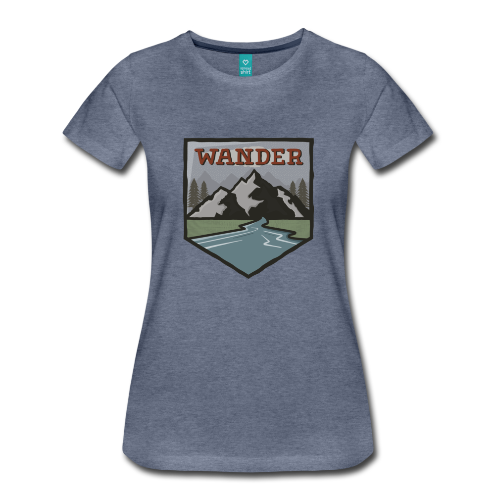 Women's Wander T-Shirt - heather blue