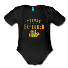 Load image into Gallery viewer, Future Explorer Baby Bodysuit - black