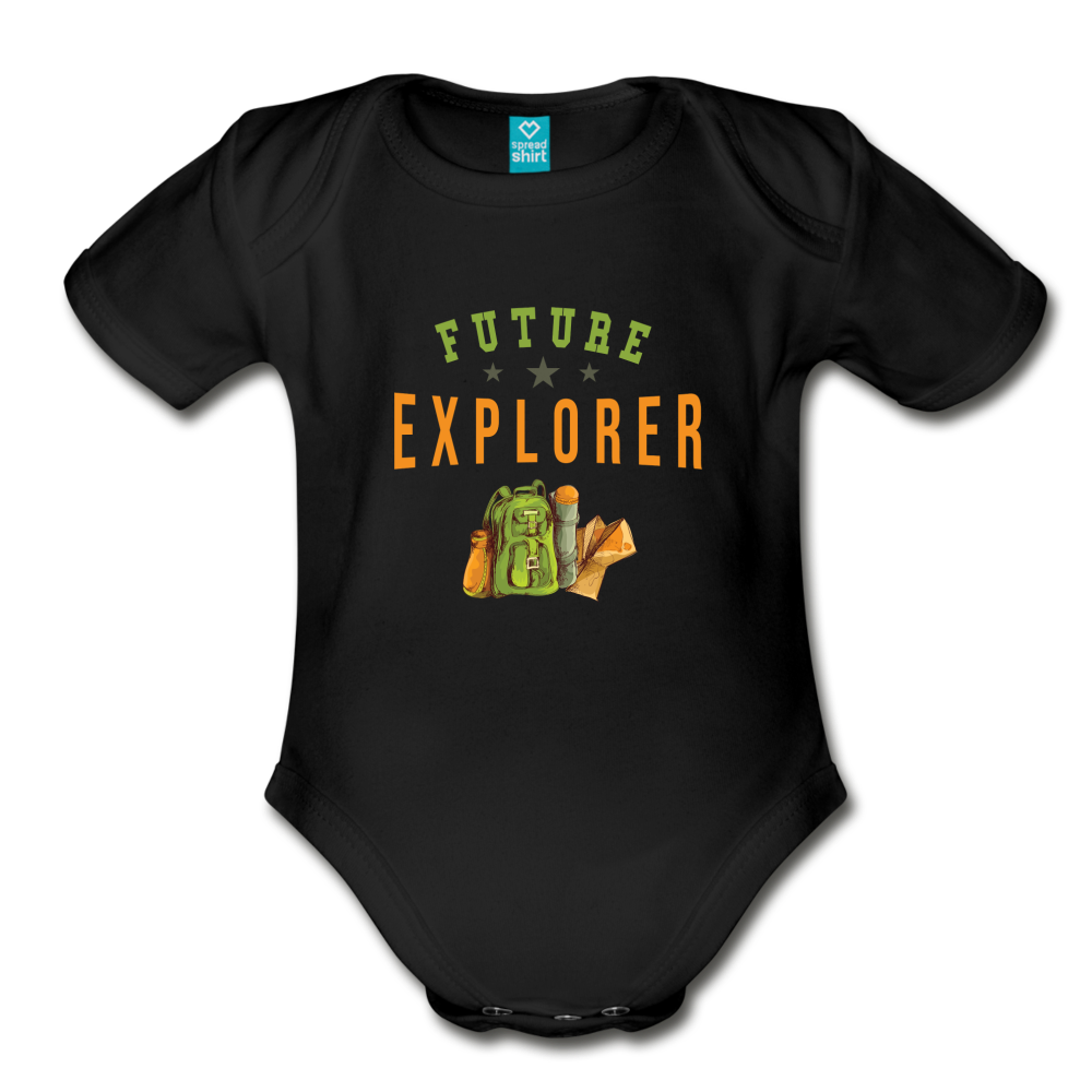 Future Explorer Baby Bodysuit - black