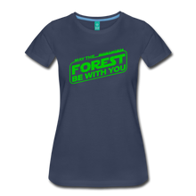 Load image into Gallery viewer, Women's May the Forest be with You T-Shirt - navy