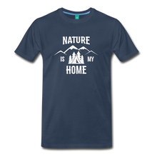 Load image into Gallery viewer, Men's Nature T-Shirt (white) - navy