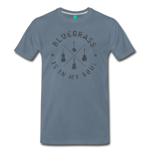 Load image into Gallery viewer, Men's Bluegrass is in my Soul T-Shirt - steel blue