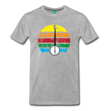 Load image into Gallery viewer, Men's Banjo Rainbow T-Shirt - heather gray