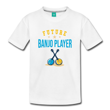 Load image into Gallery viewer, Toddler Future Banjo Player T-Shirt - white