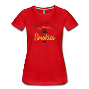 Women's Escape to the Smokies T-Shirt - red