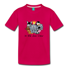 Load image into Gallery viewer, Toddler In the Zoo Crew T-Shirt - dark pink