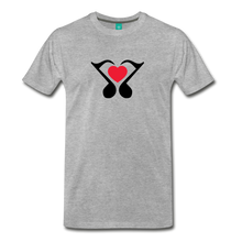 Load image into Gallery viewer, Men's Heart Music Note T-Shirt - heather gray