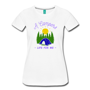 Women's Campers Life T-Shirt - white