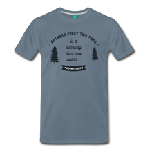 Load image into Gallery viewer, Men's Between Every Two Pines T-Shirt - steel blue