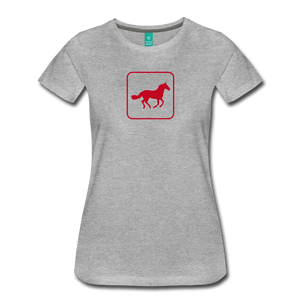 Women's Horse Icon T-Shirt - heather gray