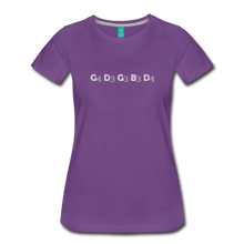 Load image into Gallery viewer, Women's Banjo Tuning T-Shirt - purple