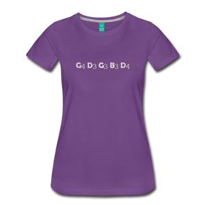 Women's Banjo Tuning T-Shirt - purple