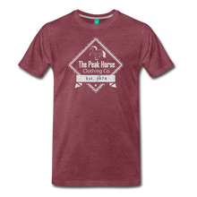 Load image into Gallery viewer, Men's The Peak Horse Diamond T-Shirt - heather burgundy