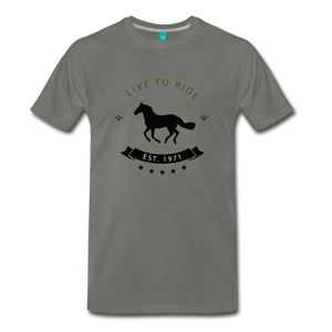 Men's Live to Ride T-Shirt - asphalt