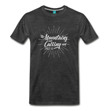 Load image into Gallery viewer, Men's Mountain Calling T-Shirt (white) - charcoal gray
