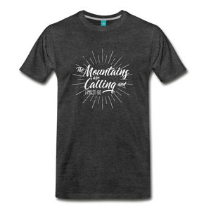 Men's Mountain Calling T-Shirt (white) - charcoal gray