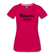 Load image into Gallery viewer, Women's Bluegrass Definition T-Shirt - dark pink