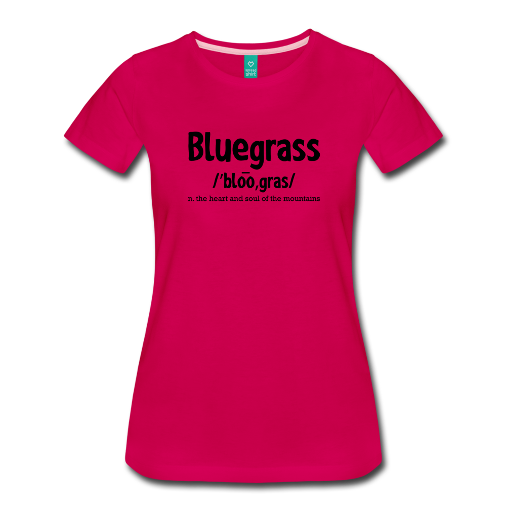 Women's Bluegrass Definition T-Shirt - dark pink