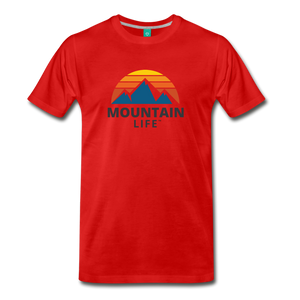 Mountain Life Shirt - red