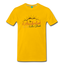 Load image into Gallery viewer, Men's Wanderlust T-Shirt - sun yellow