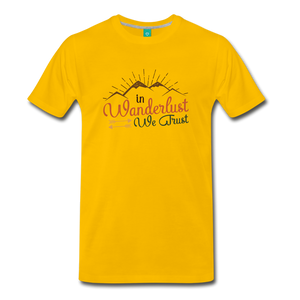 Men's Wanderlust T-Shirt - sun yellow
