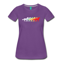 Load image into Gallery viewer, Women's Retro Rainbow Horse T-Shirt - purple