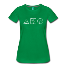 Load image into Gallery viewer, Women's Horse Symbols T-Shirt - kelly green
