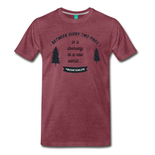 Load image into Gallery viewer, Men's Between Every Two Pines T-Shirt - heather burgundy