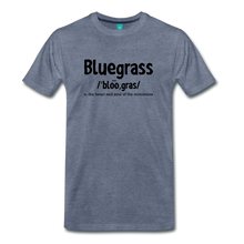 Load image into Gallery viewer, Men's Bluegrass Definition T-Shirt - heather blue