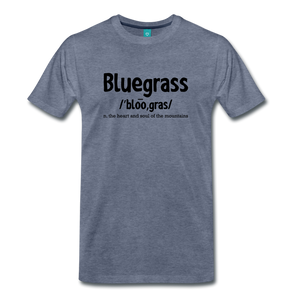 Men's Bluegrass Definition T-Shirt - heather blue