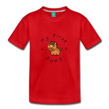 Load image into Gallery viewer, Toddler My First Pony T-Shirt (light brown) - red