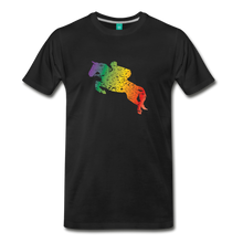 Load image into Gallery viewer, Men's Jumping Rainbow Horse T-Shirt - black